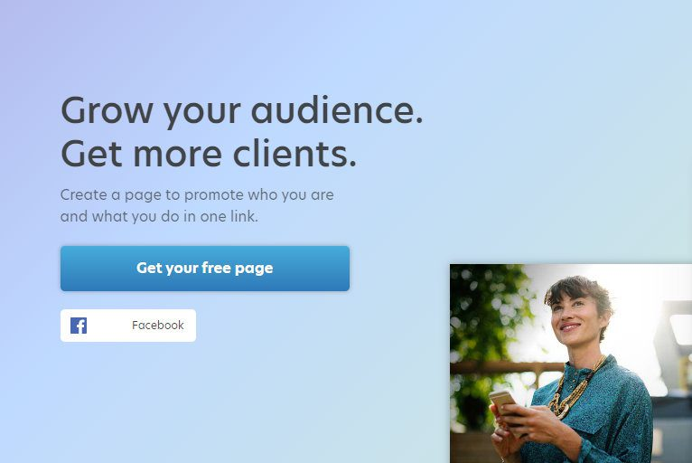 Image of the About.me sign-up page.