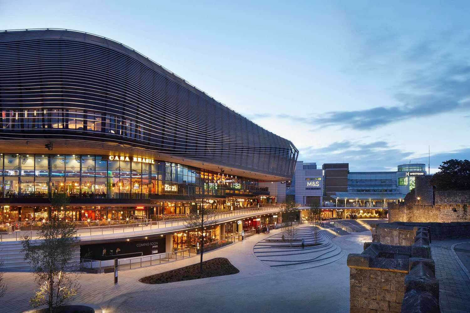 Decorative. Picture of the Westquay Shopping Centre in Southampton.